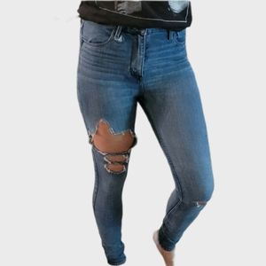 ABERCROMBIE & FITCH GOOD COND RIP KNEE SKINNY JEAN